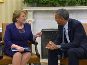 Obama & Bachelet