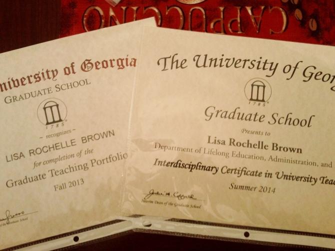 Graaduate School Teaching Certificates