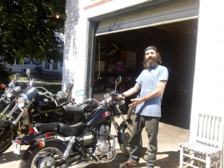 "My friend Josh repaired my bike when I was out of the country.  He's an awesome ""Bike Whisperer"""