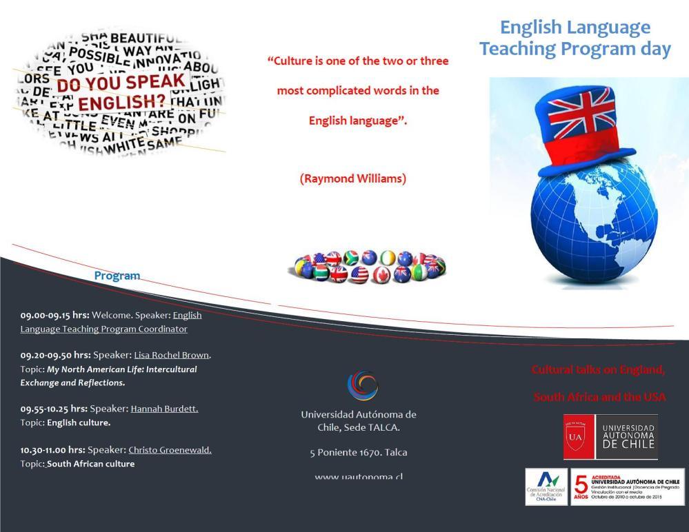 My North American Life (Intercultural Exchange Presentation at Universidad Autónoma de Chile) (1/6)